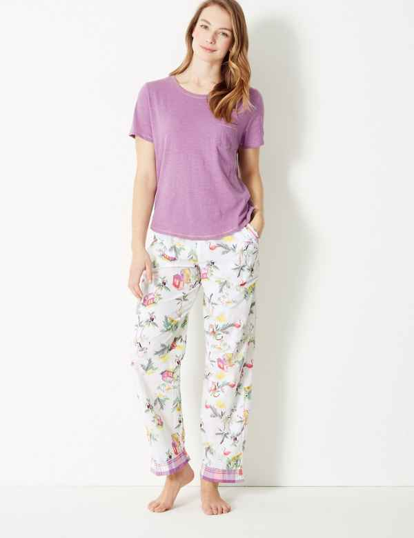 Tropical Short Sleeve Pyjama Set eefd09e77