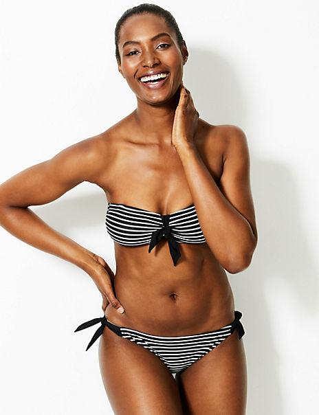 Striped Bandeau Bikini Set