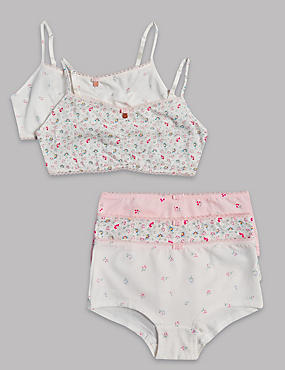 Floral Print Crop Top and Shorts Set