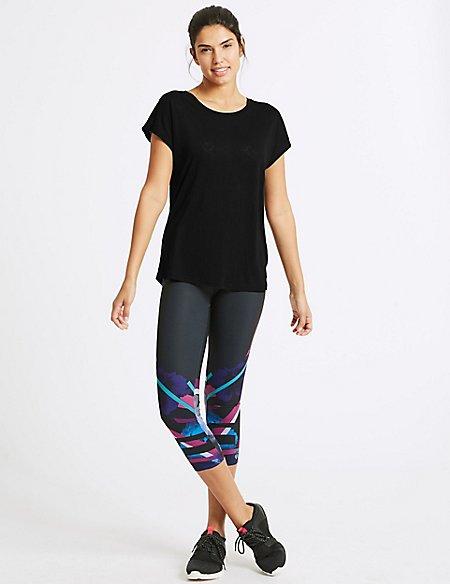 Burnout Short Sleeve Top & Leggings Outfit
