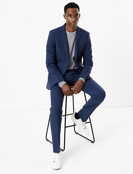 The Ultimate Blue Skinny Suit