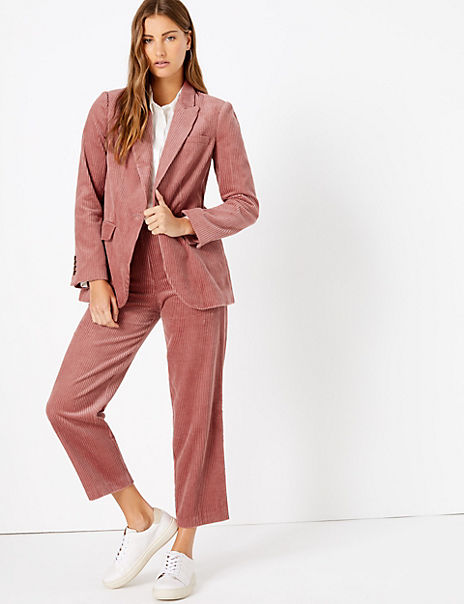 Pure Cotton Corduroy Blazer & Trousers Suit Set