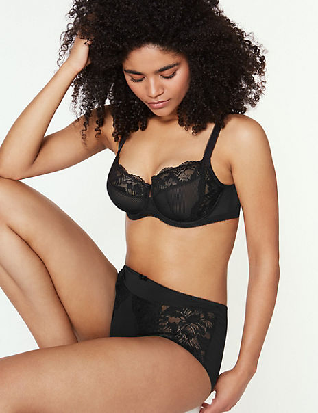 Nina Lace Non-Padded Set with Full Cup A-DD