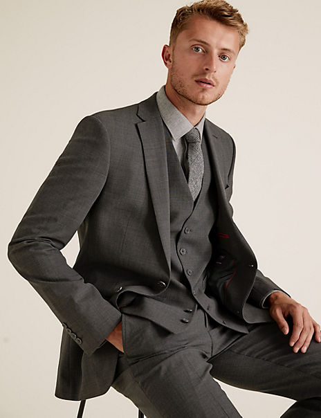 The Ultimate Charcoal Tailored Fit 3 Piece Suit