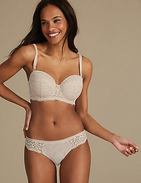 Vintage Lace Set with Padded Strapless A-E