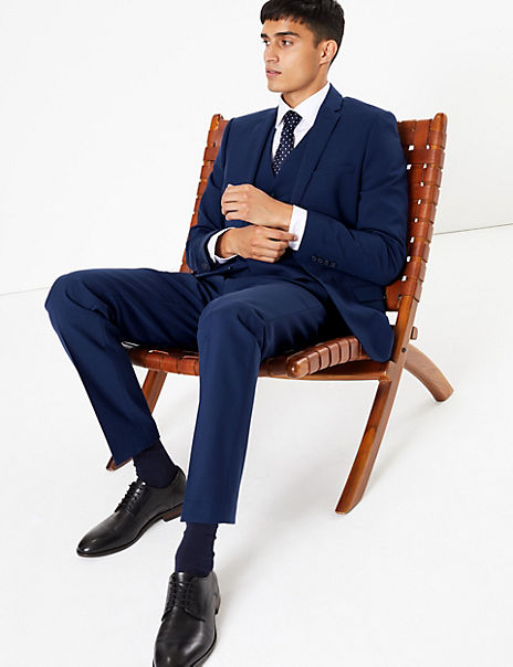 The Ultimate Blue Skinny Fit 3 Piece Suit