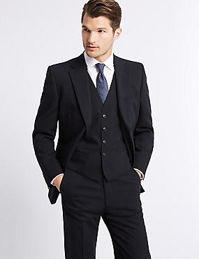 Navy Regular Fit 3 Piece Suit