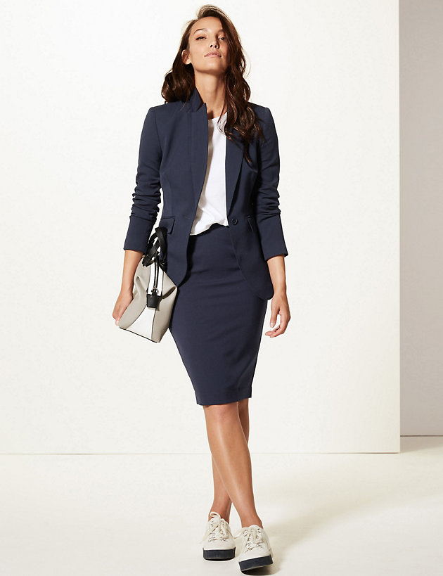 Blazer & Pencil Skirt Suit Set