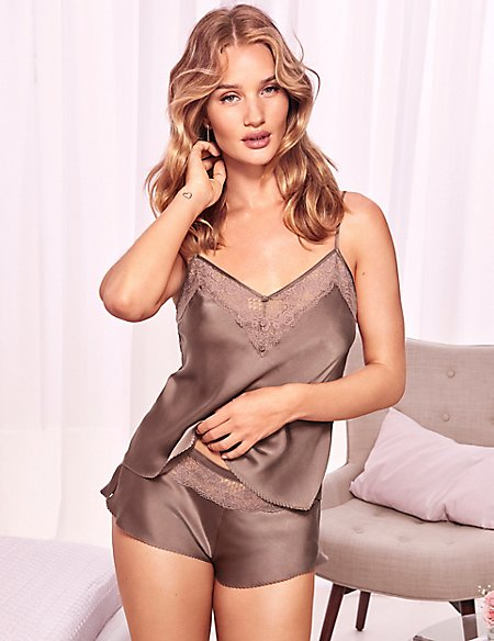 Silk & Lace Camisole Set with French Knickers