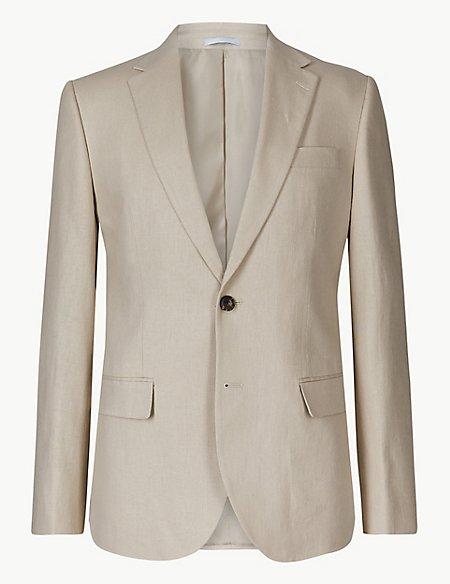 Big & Tall Textured Regular Fit Suit