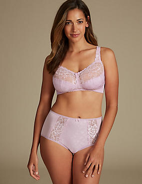 Floral Jacquard Set Lace with Full Cup B-G