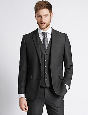 Big & Tall Charcoal Tailored Fit Suit