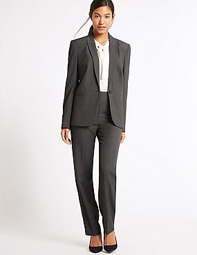 Jacket & Straight Leg Trousers Suit Set