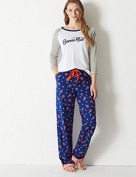 Printed Long Sleeve Pyjama Set