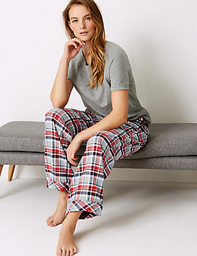 Checked Short Sleeve Pyjama Set
