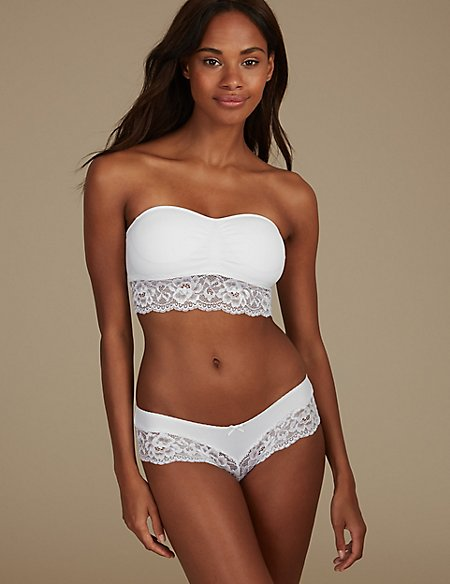 Lace Set with Bandeau Strapless
