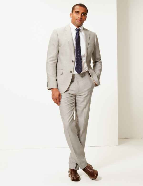 e4d5e8d7d3 Big & Tall Tailored Fit Linen Miracle Suit