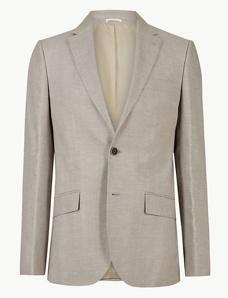 Big & Tall Tailored Fit Linen Miracle Suit