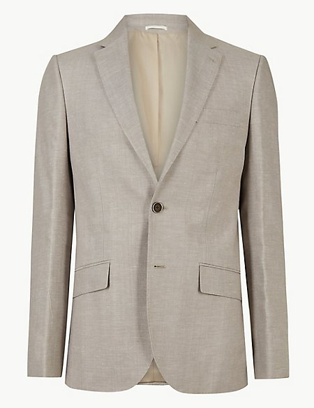 Big & Tall Tailored Fit Linen Miracle 3 Piece Suit