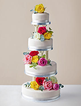 Build Your Own Traditional Wedding Cake - Fruit, Sponge or Chocolate (Serves 8-64)