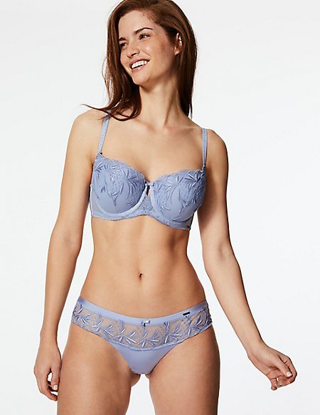 Embroidered Set with Padded Balcony A-E