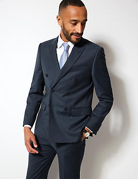 Textured Tailored Fit Wool Suit