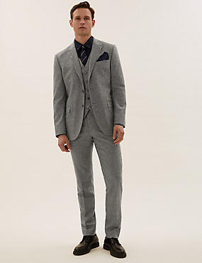 Tailored Fit Italian Wool 3 Piece Suit
