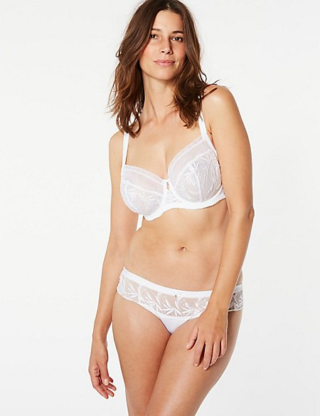 Embroidered Non-Padded Set with Balcony DD-G