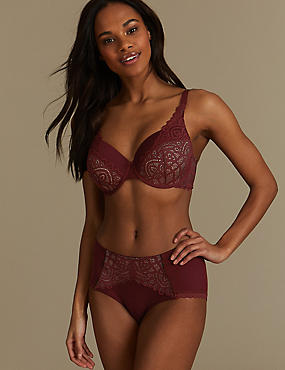 Lace Set with Padded Full Cup A-E
