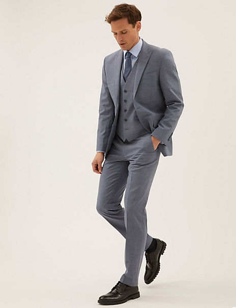 The Ultimate Blue Tailored Fit 3 Piece Suit