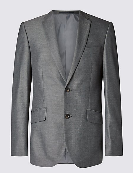 Grey Tailored Fit 3 Piece Suit