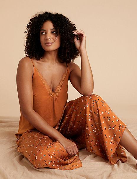 Satin Camisole Pyjama Set