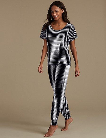 Striped Short Sleeve Pyjama Set