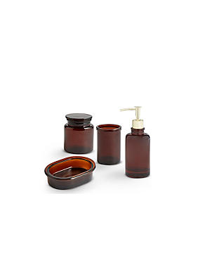 Amber Glass Bathroom Range