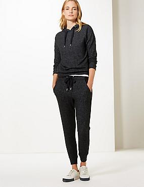 Textured Sweatshirt & Slim Leg Joggers Set