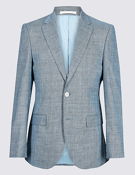 Linen Miracle Regular Fit Textured Suit