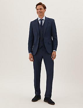 Costume 3pièces coupe ajustée en tissu extensible