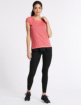 Short Sleeve Sport Top & Leggings Outfit, , catlanding
