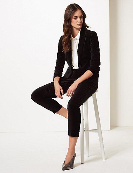 Cotton Rich Blazer & Trousers Suit Set