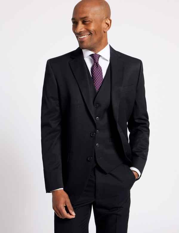 6b283979f0d6 Navy Regular Fit 3 Piece Suit