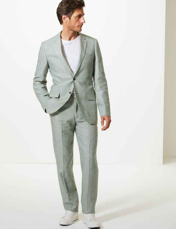 b35243caf6e2 Tailored Fit Linen Miracle Suit