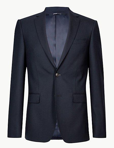 Navy Slim Fit Wool Suit