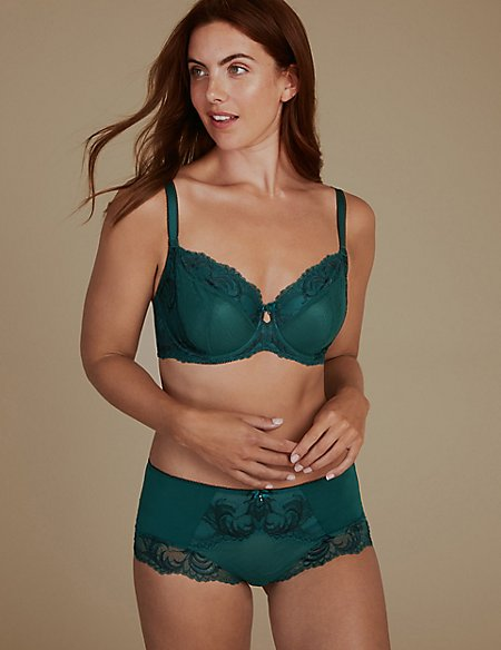 Sophia Lace Non-Padded Set with Full Cup