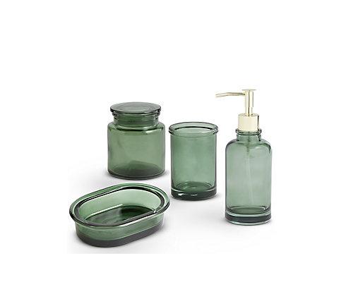 Green Glass Bathroom Range