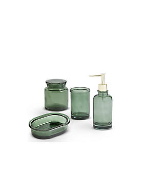 Green Glass Bathroom Range