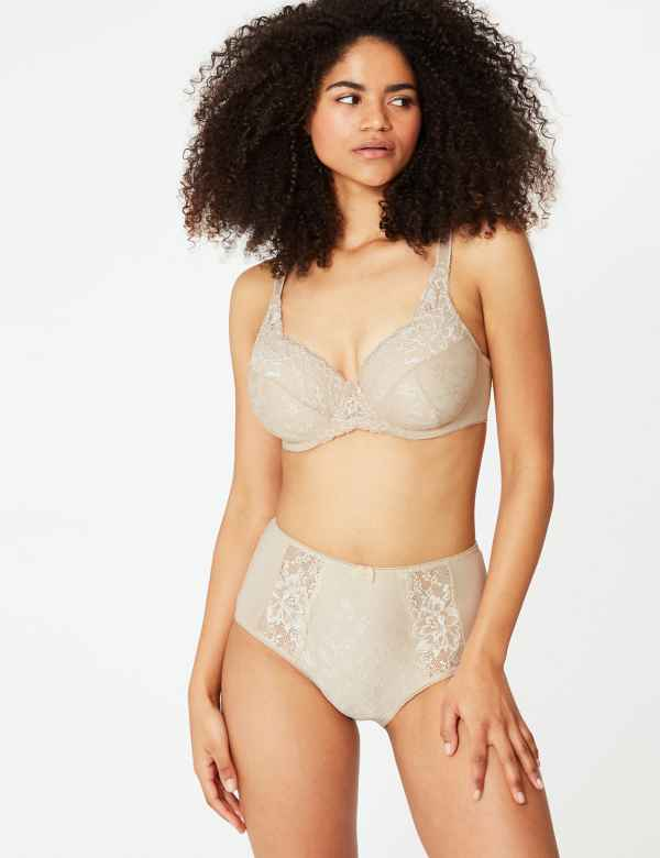 0706231b840 Jacquard Lace Set with Padded Full Cup A-E
