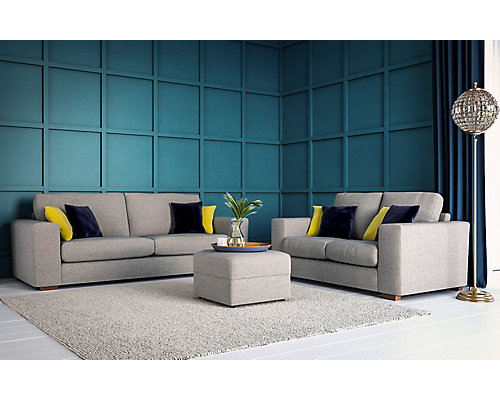 Blake large sofa, small sofa & footstool bundle now £999 – save £428