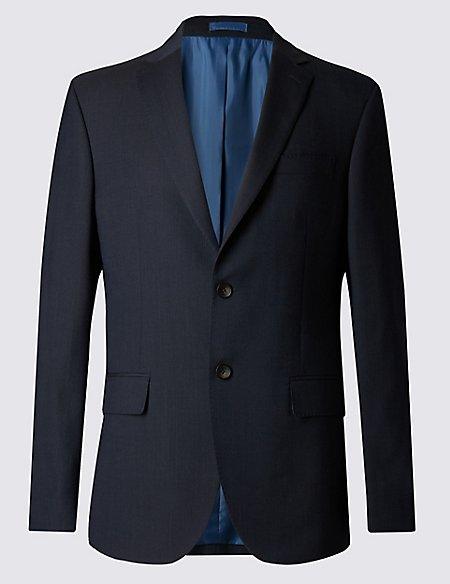 Navy Striped Regular Fit Suit
