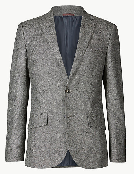 Big & Tall Textured Slim Fit Suit