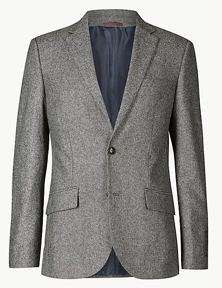 Big & Tall Textured Slim Fit Suit